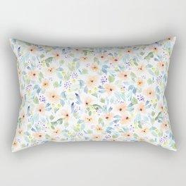 Peachy Watercolor Pattern Rectangular Pillow
