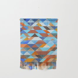 Triangle Pattern no.18 blue and orange Wall Hanging