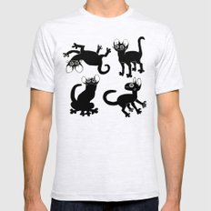 4cats MEDIUM Mens Fitted Tee Ash Grey