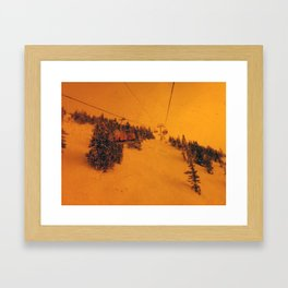 Sunshine Chairlift Framed Art Print