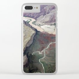 Grand Canyon bird's eye view #1 Clear iPhone Case