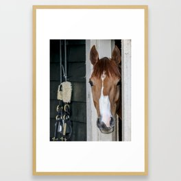 Waiting to Run Framed Art Print