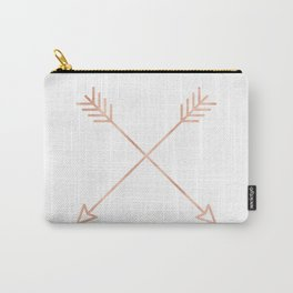 Rose Gold Pink Arrows Carry-All Pouch