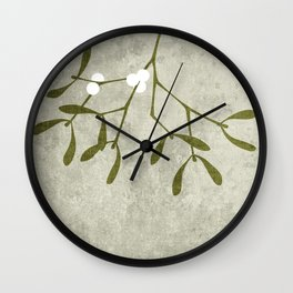 Mistletoe Wall Clock