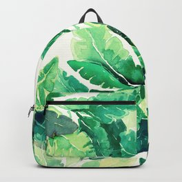 Spring Leaves Green Backpack