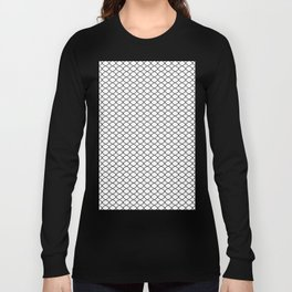 Quatrefoil Patten Black and White Long Sleeve T-shirt