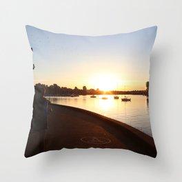 Seawall 3 Throw Pillow