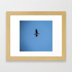 in the blue Framed Art Print