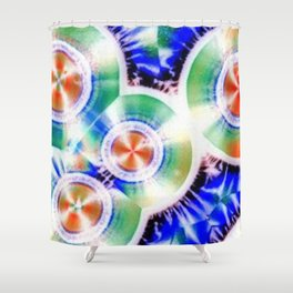 Happy Vitamin C Crystals in Sunlight Shower Curtain