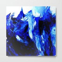 Dancing In Blue No. 1 by Kathy Morton Stanion Metal Print