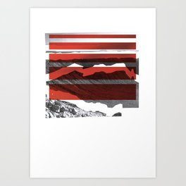 Red Terrain Art Print