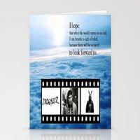 donnie darko Stationery Cards featuring Donnie Darko by Arianna Bears
