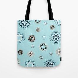 Blue Mandala, Pattern, Digital Design, Shapes Tote Bag