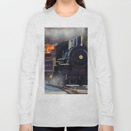 The Rail Yard  -  Steam Train Long Sleeve T-shirt
