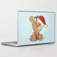 teddy bear Laptop & iPad Skins featuring Teddy bear by Toru Sanogawa