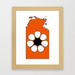 Northern Territory Australia Map with NT Flag Framed Art Print