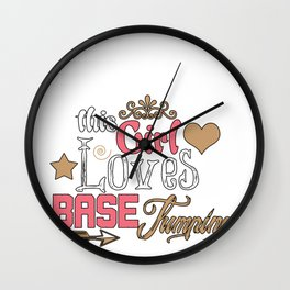 Base Jumping Jump Sky Diving Parachuting Dive Gift Wall Clock