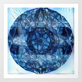 Milkweed Mandala | Deep Dream Edition 4 Art Print