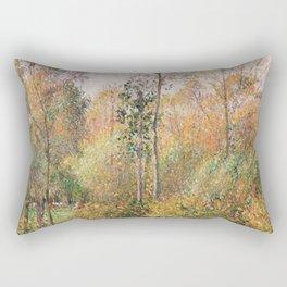 Camille Pissarro - Automne, Peupliers, Eragny Rectangular Pillow