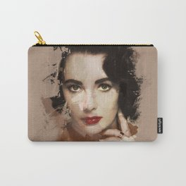 Paint-stroked Portrait: Elizabeth Taylor Carry-All Pouch