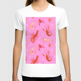 Dance of the Crustaceans in Conch Pink T-shirt