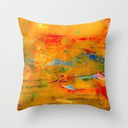 Paint Splatters on Canvas Throw Pillow