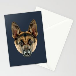 German Shepherd // Navy Stationery Cards