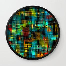 Art splash brush strokes paint abstract seamless pattern print background Wall Clock
