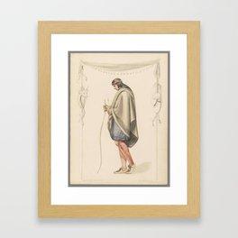 Indian Figure in Profile,  Henry Kirke Brown Framed Art Print