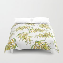 Australian Wattle Flower, Illustration Duvet Cover