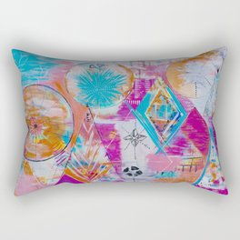 The Perfect Mystery Abstract Geometry Acrylic Painting Rectangular Pillow