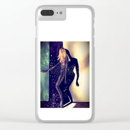 Dancing Into The Night Illustration By James Thomas Ryan Clear iPhone Case
