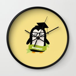 Penguin nerd from Budapest T-Shirt for all Ages Wall Clock
