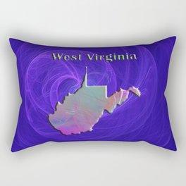 West Virginia Map Rectangular Pillow