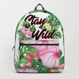 Stay Wild Inspirational Quote Backpack