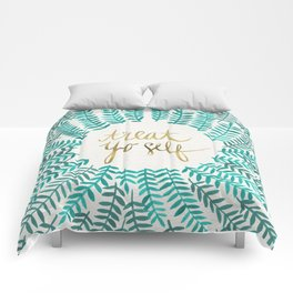 Treat Yo Self – Gold & Turquoise Comforters