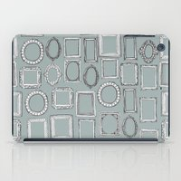 frames iPad Cases featuring picture frames grey by Sharon Turner