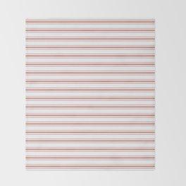 Large Camellia Pink and White Mattress Ticking Stripes Throw Blanket