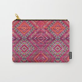 N118 - Pink Colored Oriental Traditional Bohemian Moroccan Artwork. Carry-All Pouch