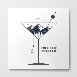 Fresh Air Cocktail Metal Print