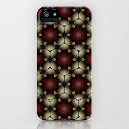 Metallic Deco Little Leaves iPhone Case