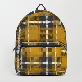 Mustard Yellow Plaid Backpack