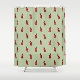 Chilly Hot Sauce Shower Curtain