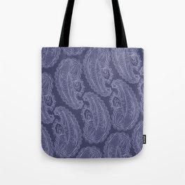 Purple Paisley Tote Bag