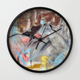 Desert Mountain Tango - Original Art Multi Media Canvas by Jacob von Sternberg aka Anutu Wall Clock