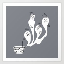 Ghosts with Fez Art Print