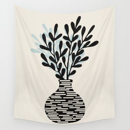 Still Life with Vase and Tree Branches Wall Tapestry