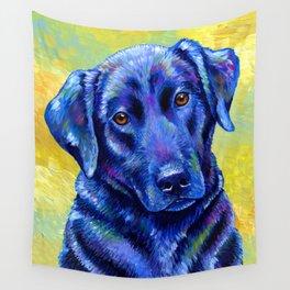 Colorful Labrador Retriever Dog Wall Tapestry