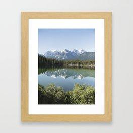Reflections in Jasper National Park Framed Art Print