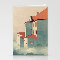 castle in the sky Stationery Cards featuring Castle in the Sky by Schwebewesen • Romina Lutz